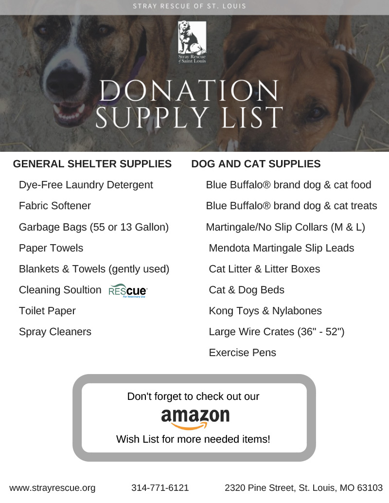 Stray Rescue Wish List