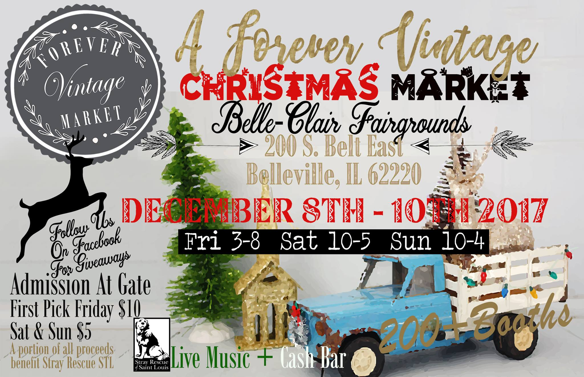 Belleville Il Christmas Market 2020 Stray Rescue of St. Louis   Forever Vintage Market   Christmas